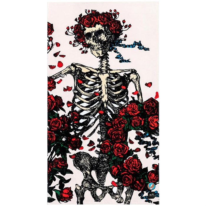 Slowtide - Skull & Roses Towel