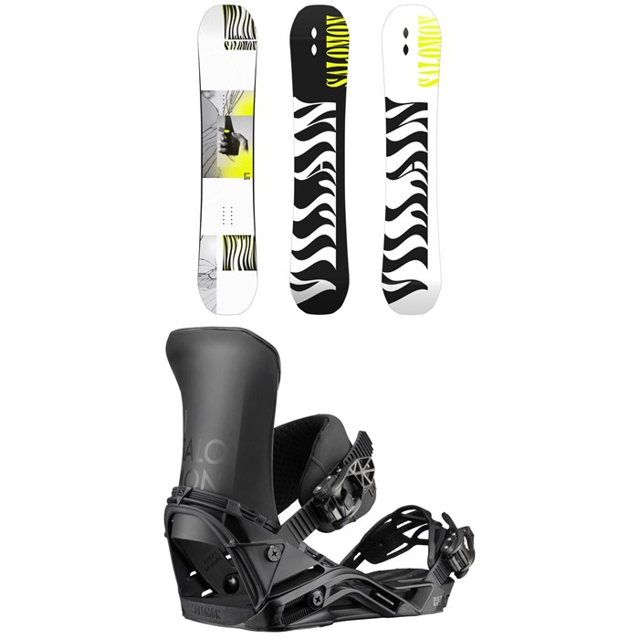 Salomon - The Villain Snowboard + District Snowboard Bindings 2020
