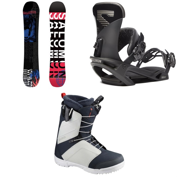Salomon - Sleepwalker Snowboard + Trigger X Snowboard Bindings + Faction Snowboard Boots 2020