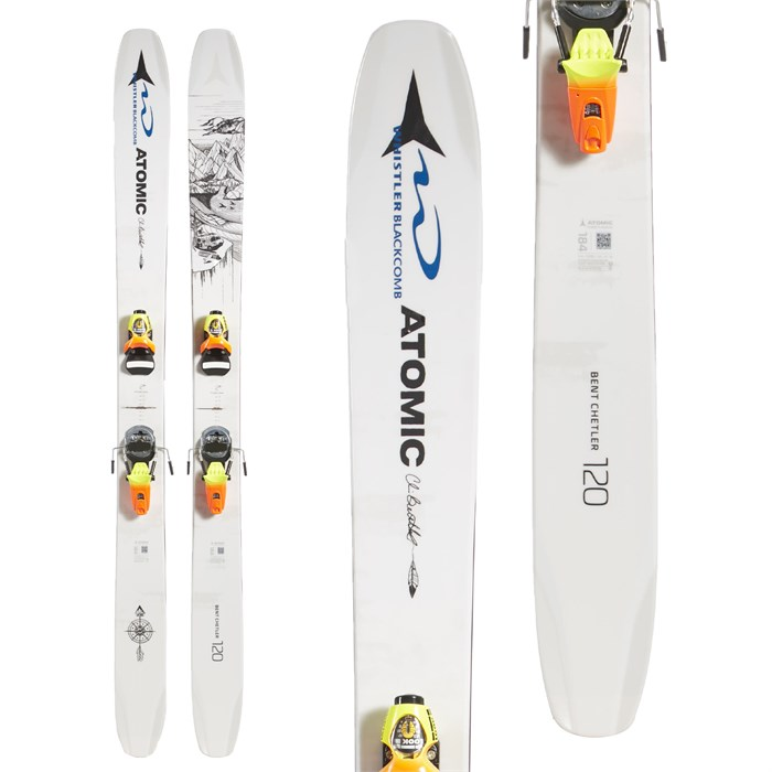 Atomic - Bent Chetler 120 Skis + Look Pivot 18 Ski Bindings 2019 - Used