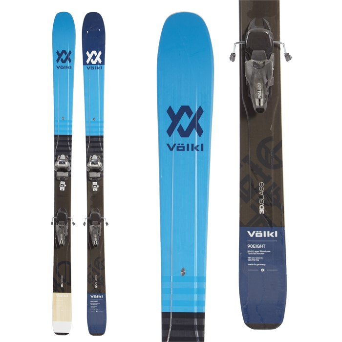 Volkl 90Eight Skis + Marker Griffon Ski Bindings 2019