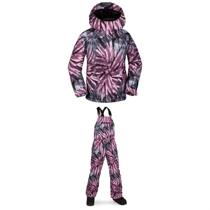 Volcom - Westerlies Insulated Jacket - Girls' + Volcom Barkley Bib Overalls - Kids'