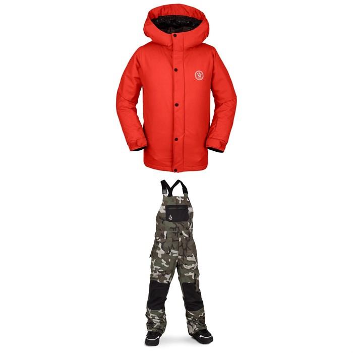 Volcom - Ripley Insulated Jacket - Boys' + Volcom Barkley Bib Overalls - Kids'