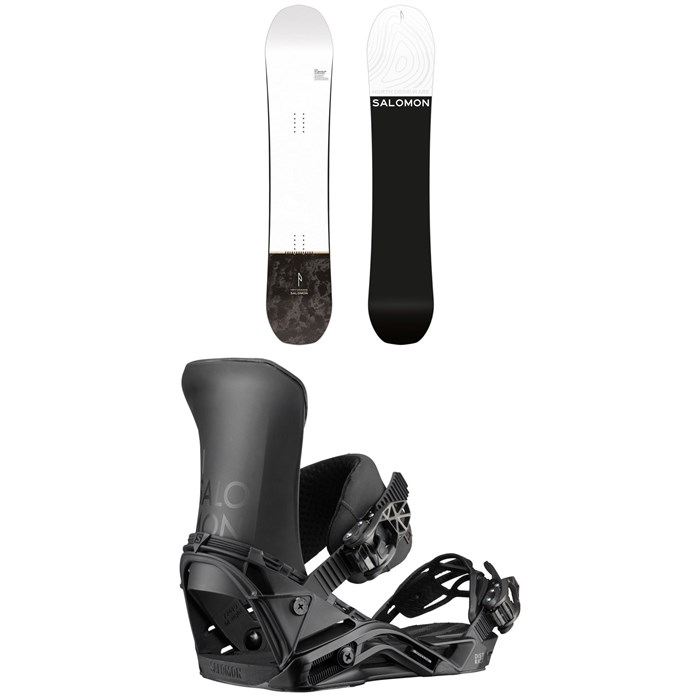 Salomon - Super 8 Snowboard + District Snowboard Bindings 2020