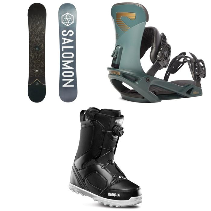 Salomon - Sight X Snowboard + Salomon Trigger X Snowboard Bindings + thirtytwo STW Boa Snowboard Boots 2020