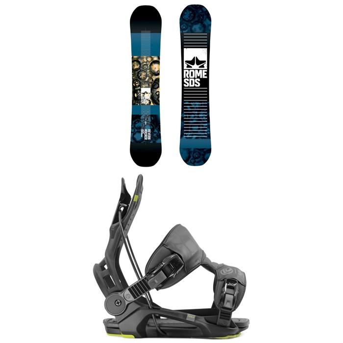 Rome - Reverb Rocker SE Snowboard 2019 + Flow Fenix Snowboard Bindings 2020