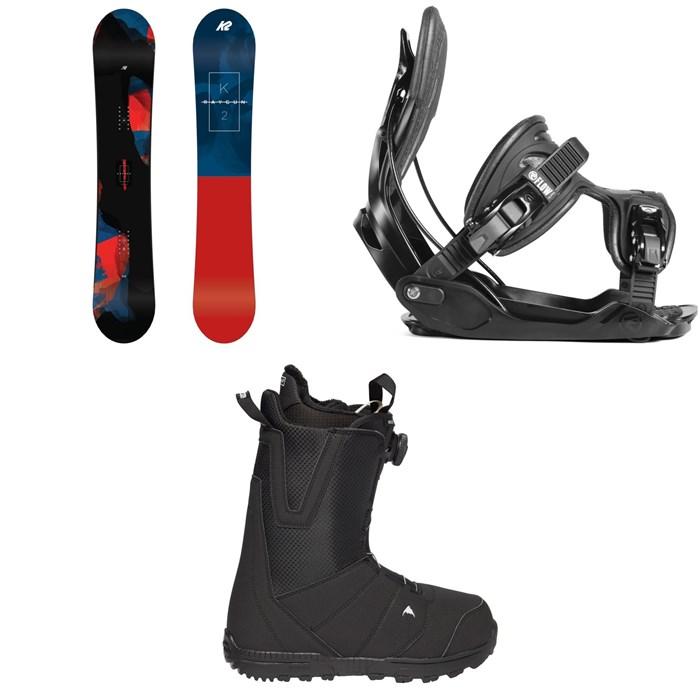 K2 - Raygun Snowboard 2019 + Flow Alpha Snowboard Bindings 2019 + Burton Moto Boa Snowboard Boots 2018