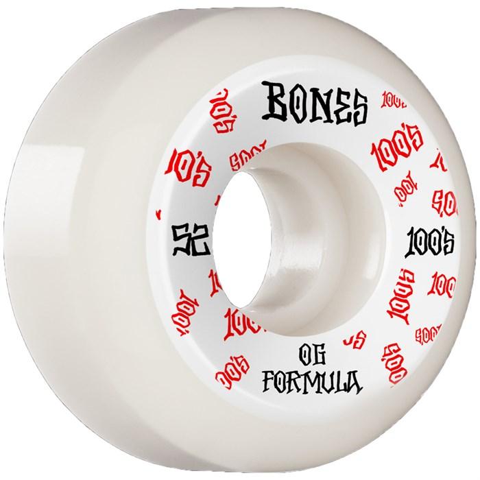 Bones - 100s #3 OG Formula V5 White Skateboard Wheels