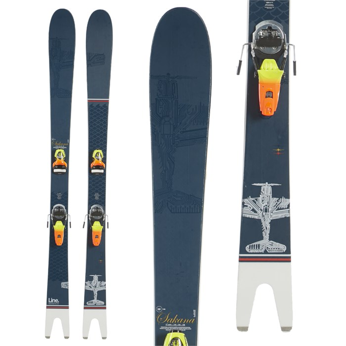 Line Skis - Sakana Skis + Look Pivot 18 Bindings 2020 - Used