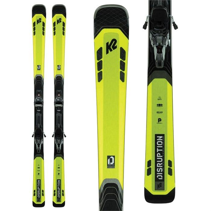 K2 Disruption 82Ti Skis + MXCell 12 TCx Quikclik Bindings