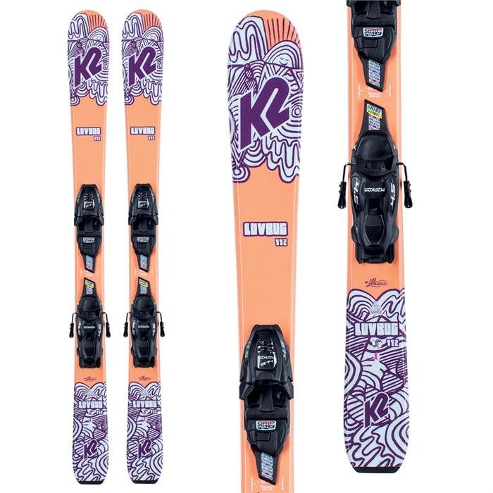 K2 - Luv Bug Skis + FDT 4.5 Bindings - Girls' 2022
