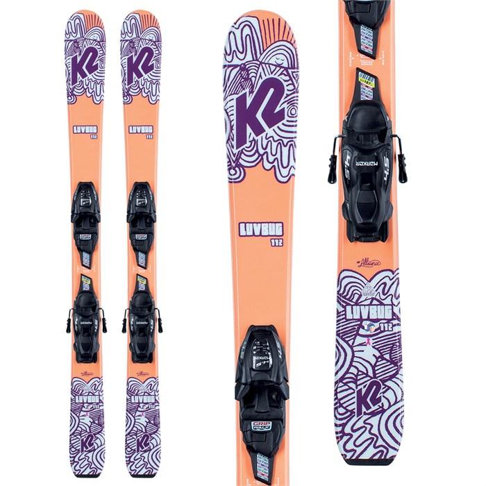 K2 - Luv Bug Skis + FDT 7.0 Bindings - Girls' 2022