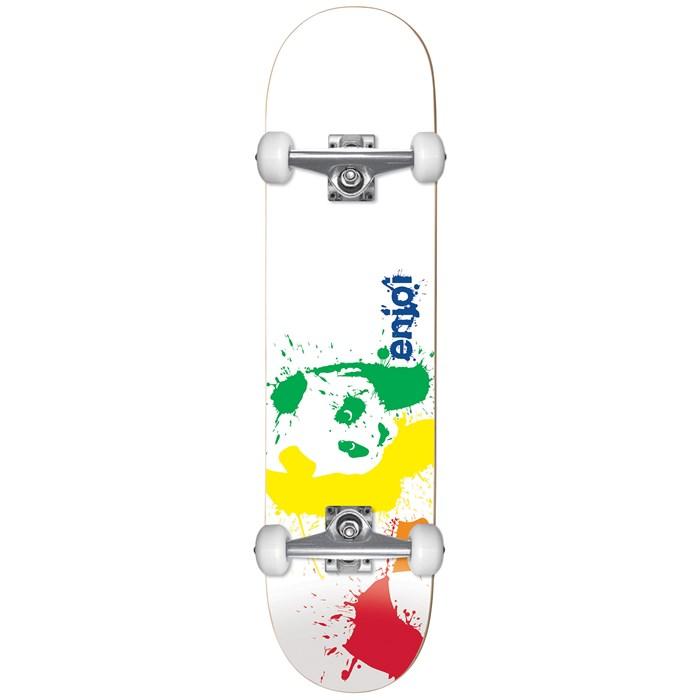 Enjoi - Splatter Panda Spectrum 7.75 Skateboard Complete - Kids'