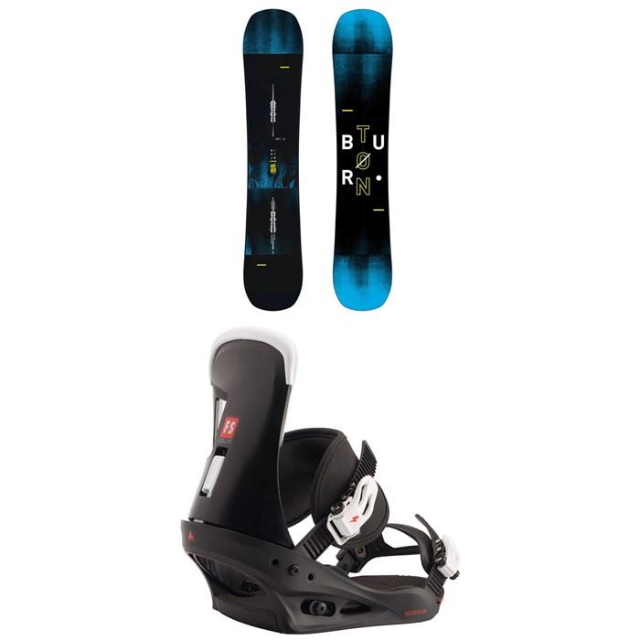 Burton - Instigator Snowboard 2019 + Freestyle Snowboard Bindings 2020
