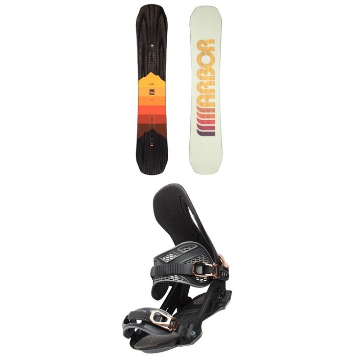 Arbor - Shiloh Rocker Snowboard + Arbor Cypress Snowboard Bindings 2021