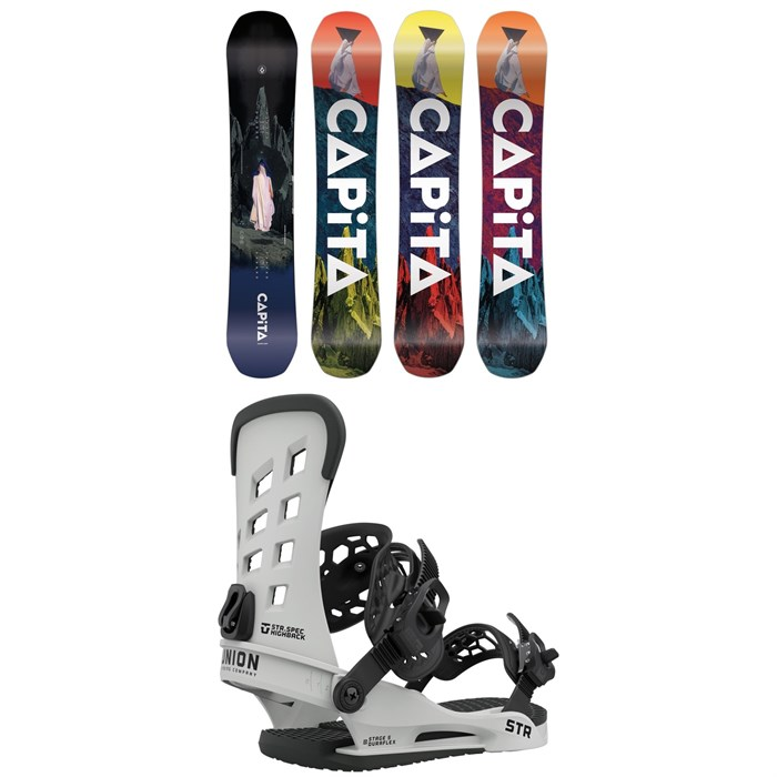 CAPiTA - Defenders of Awesome Snowboard + Union STR Snowboard Bindings 2021