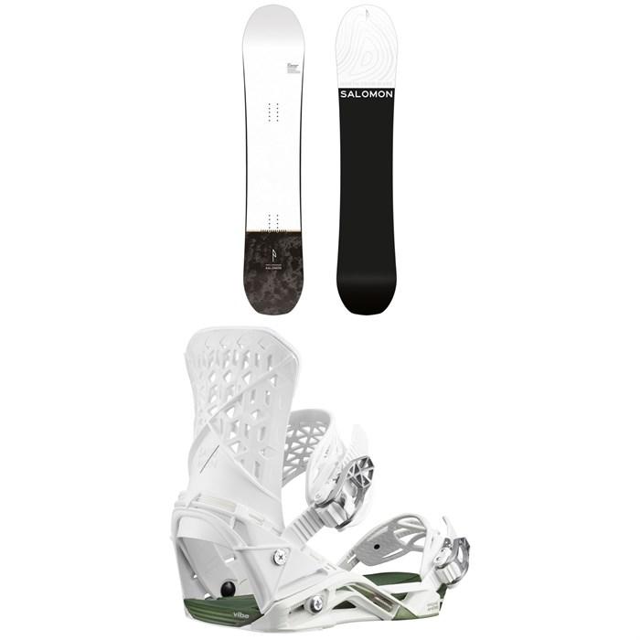 Salomon - Super 8 Snowboard + Salomon Highlander Snowboard Bindings 2020