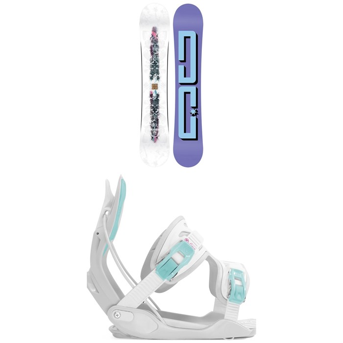 DC - Biddy Snowboard + Flow Haylo Snowboard Bindings - Women's 2020