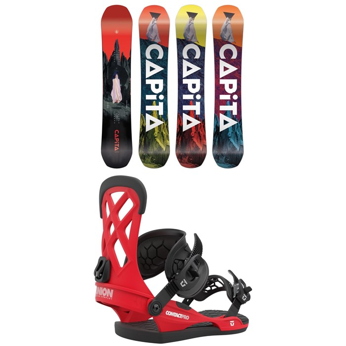 CAPiTA - Defenders of Awesome Snowboard + Union Contact Pro Snowboard Bindings 2021
