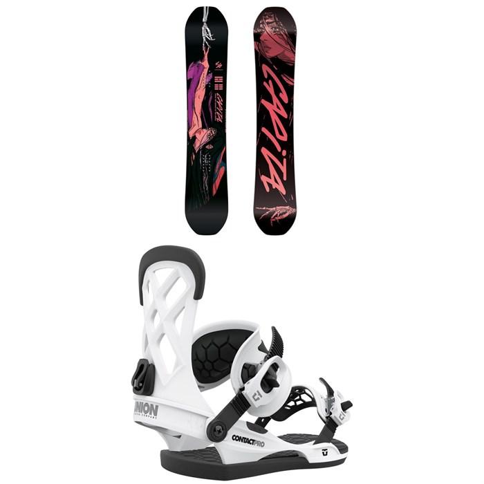 CAPiTA - Indoor Survival Snowboard + Union Contact Pro Snowboard Bindings 2021