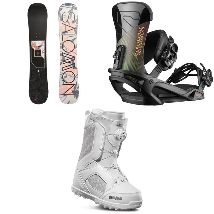 Salomon - Wonder X Snowboard + Salomon Vendetta Snowboard Bindings + thirtytwo STW Boa Snowboard Boots - Women's 2020
