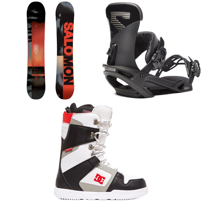 Salomon - Pulse Snowboard + Salomon Trigger X Snowboard Bindings + DC Phase Snowboard Boots 2020