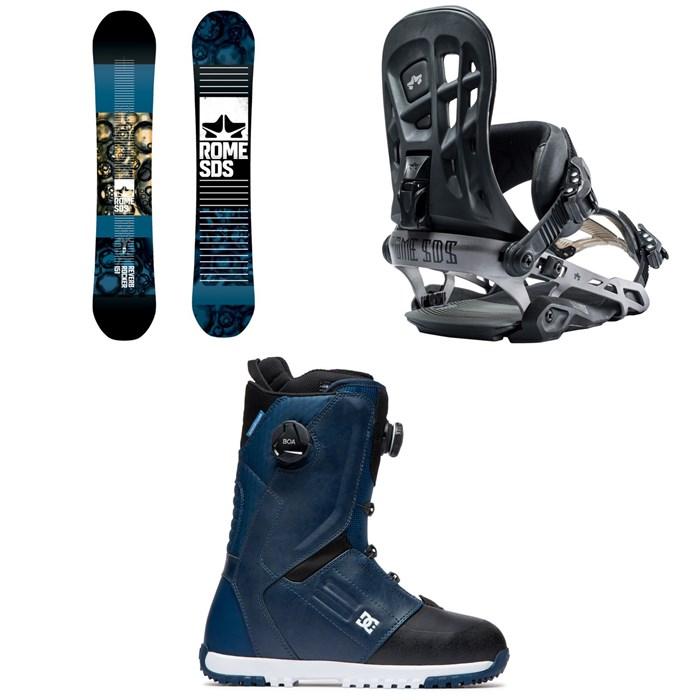 Rome - Reverb Rocker SE Snowboard 2019 + 390 Boss Snowboard Bindings 2019 + DC Control Boa Snowboard Boots 2020