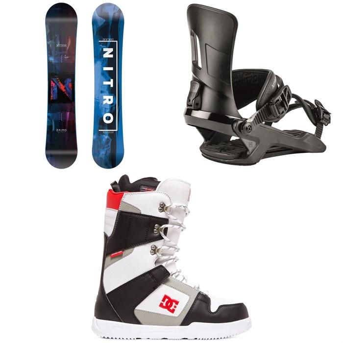 Nitro - Prime Overlay Snowboard + Nitro Rambler Snowboard Bindings + DC Phase Snowboard Boots 2020
