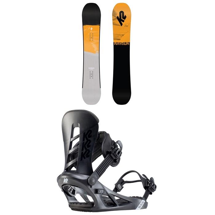 K2 - Raygun Pop Snowboard + Sonic Snowboard Bindings 2020