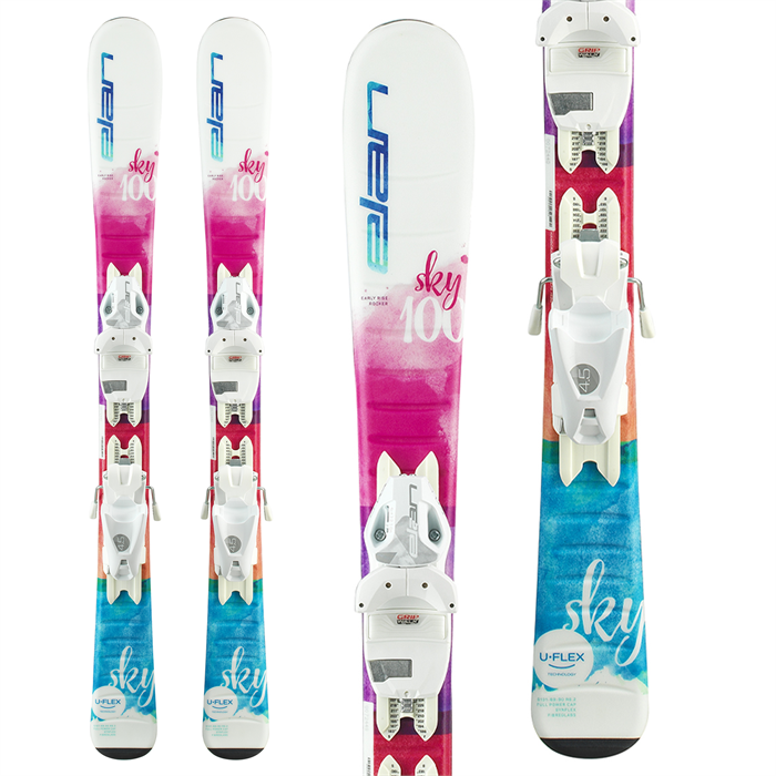 Elan - Sky QS Skis + EL 4.5 GW Shift Bindings - Little Girls' 2022