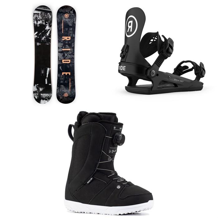 Ride - Heartbreaker Snowboard + CL-2 Snowboard Bindings + Sage Snowboard Boots - Women's 2021