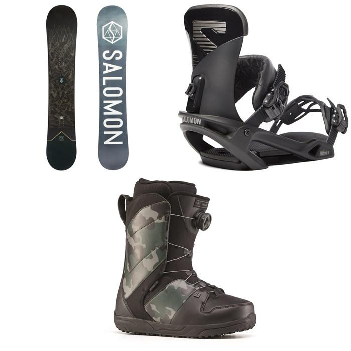 Salomon - Sight X Snowboard + Salomon Trigger X Snowboard Bindings + Ride Anthem Snowboard Boots 2020