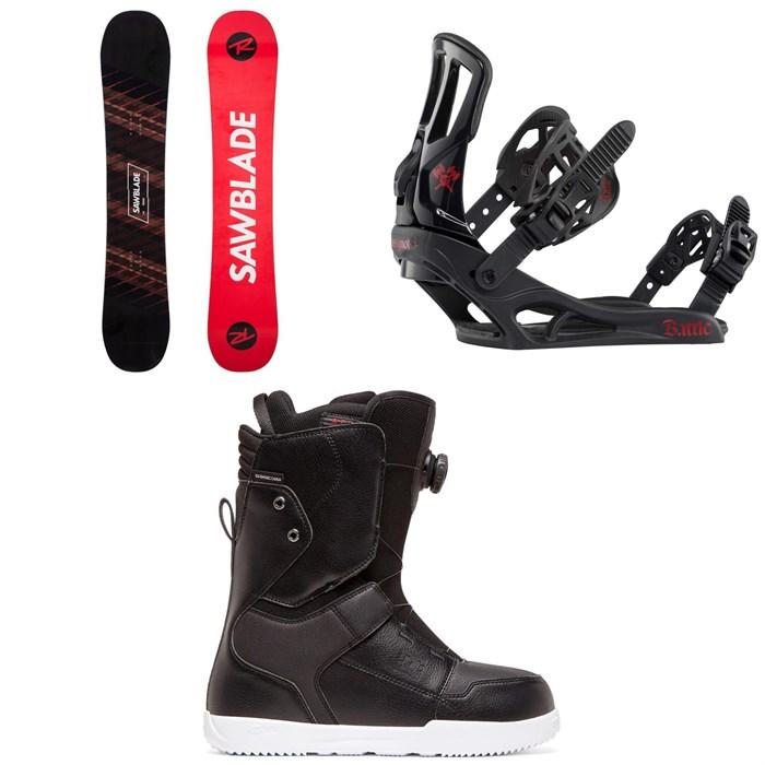 Rossignol - Sawblade Snowboard + Battle Snowboard Bindings + DC Scout Boa Snowboard Boots 2020