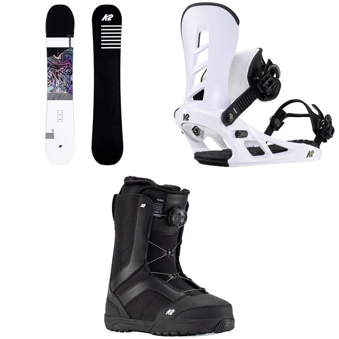K2 - Raygun Snowboard + Sonic Snowboard Bindings + Raider Snowboard Boots 2021