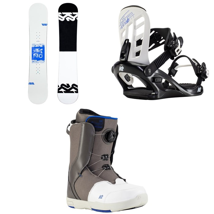 K2 - Kandi Snowboard + Kat Snowboard Bindings + Kat Snowboard Boots - Girls' 2021