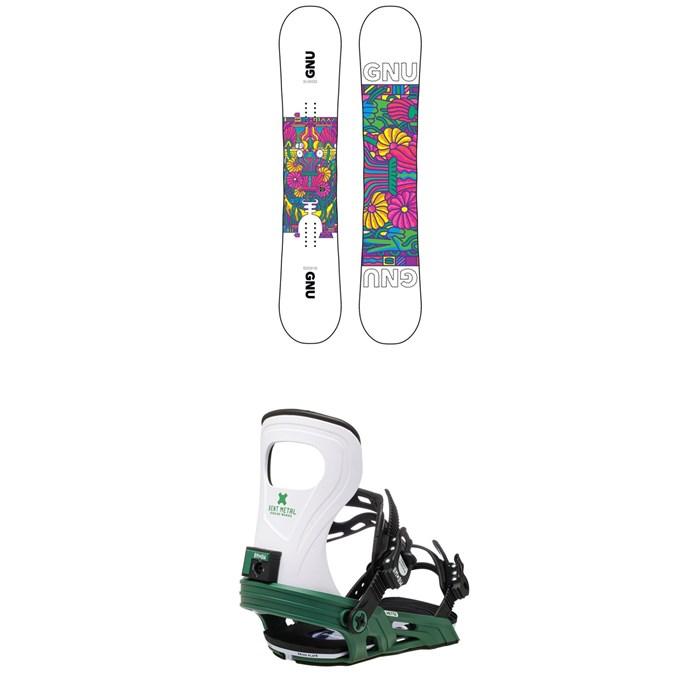 GNU - Asym B-Nice BTX Snowboard + Bent Metal Metta Snowboard Bindings - Women's 2021