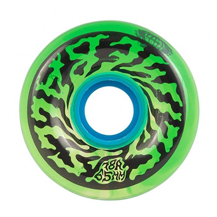 Santa Cruz - Slime Balls Swirly Trans Green Swirl 78a Skateboard Wheels