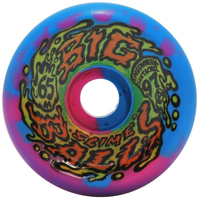 Santa Cruz - Slime Balls Big Balls Blue Pink Swirl 97a Skateboard Wheels