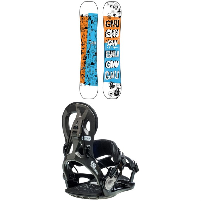 GNU - Money C2E Snowboard + Cheeter Snowboard Bindings 2021