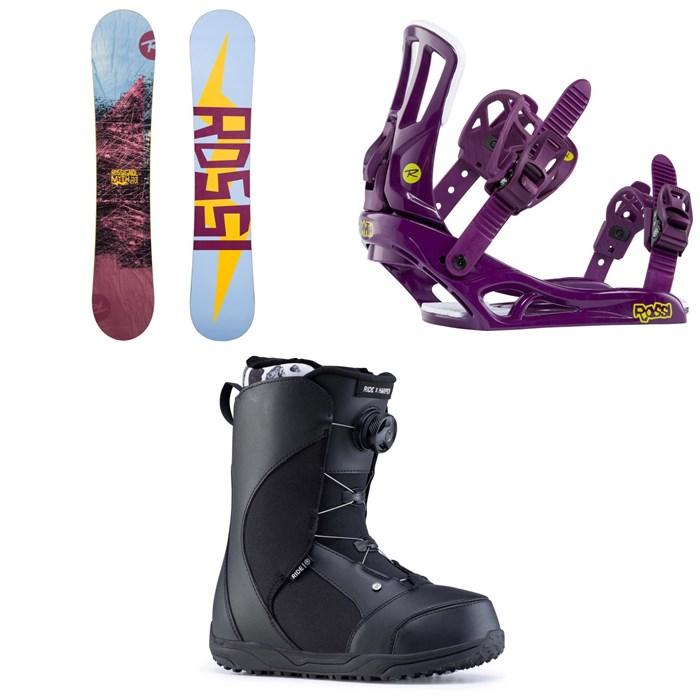 Rossignol - Myth Snowboard + Rossignol Myth Snowboard Bindings + Ride Harper Snowboard Boots - Women's 2020