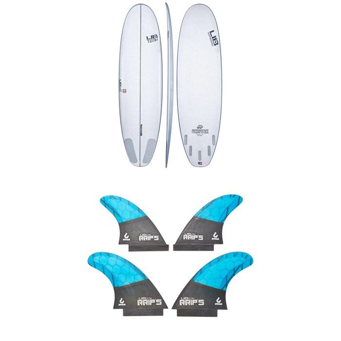 Lib Tech - Pickup Stick Surfboard + Lib Tech Quad Fin Set