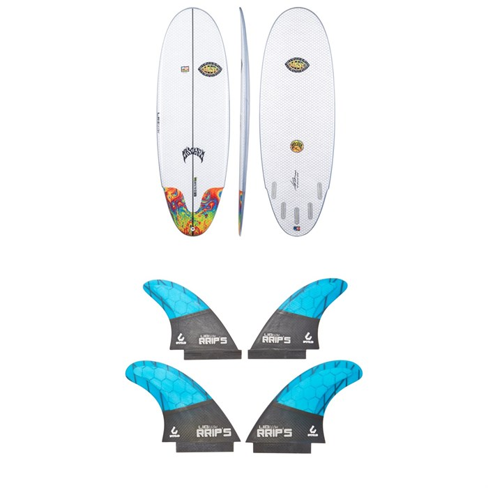 Lib Tech - x Lost Freak Flag Bean Bag Surfboard + Lib Tech Quad Fin Set