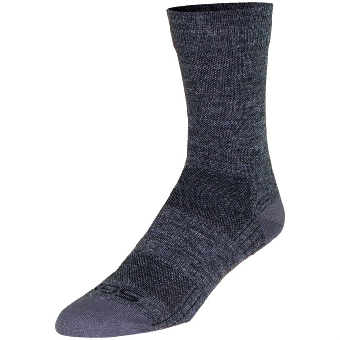 "SockGuy - SGX Wool 6"" Gray Bike Socks"