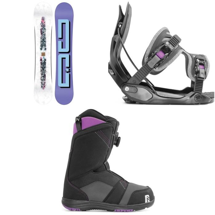 DC - Biddy Snowboard + Flow Haylo Snowboard Bindings + Nidecker Maya Boa Snowboard Boots - Women's 2020