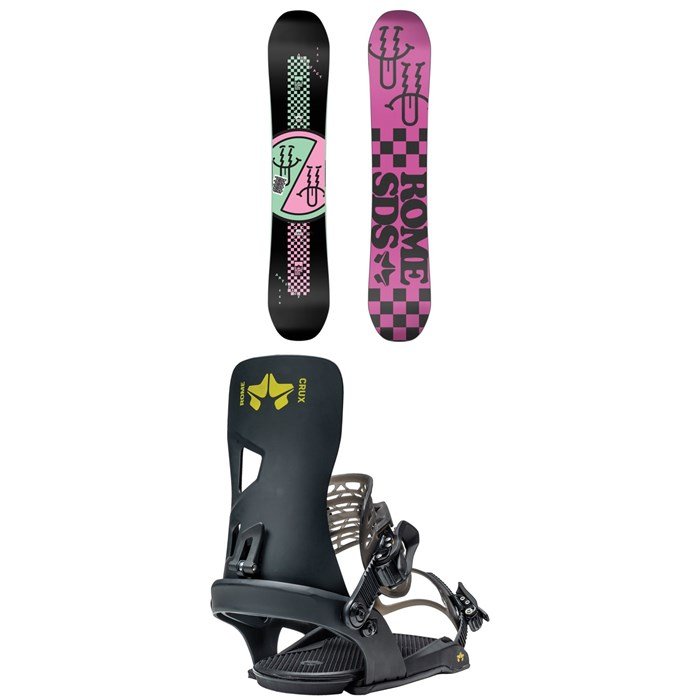 Rome - Artifact Snowboard + Crux Snowboard Bindings 2021