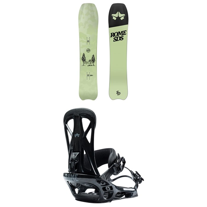 Rome - Service Dog Snowboard + United Snowboard Bindings 2021