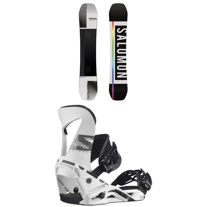 Salomon - Huck Knife Snowboard + Hologram Snowboard Bindings 2021