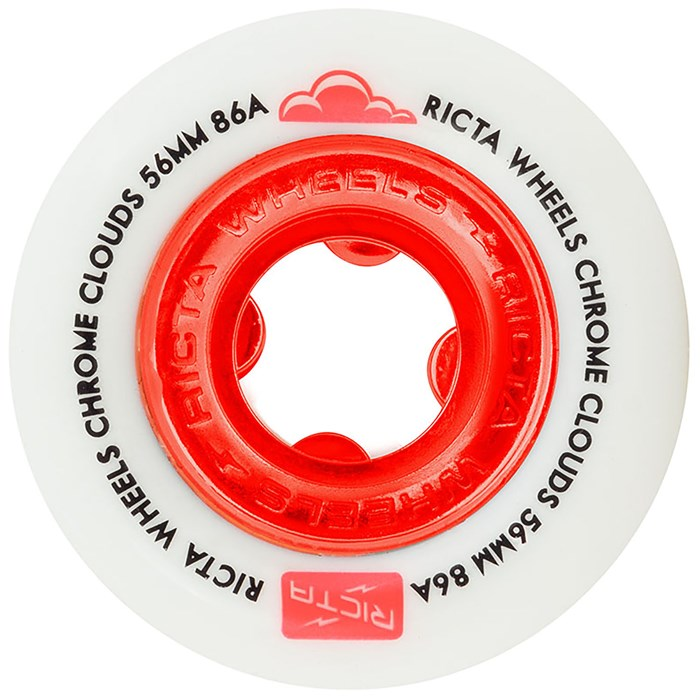 Ricta - Chrome Clouds Red 86a Skateboard Wheels