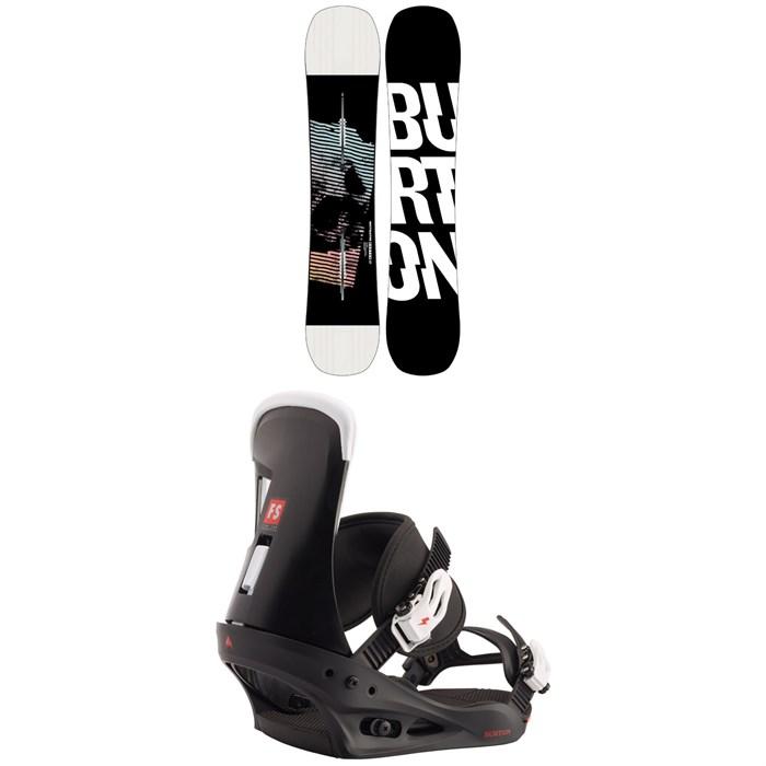 Burton - Instigator Snowboard + Freestyle Snowboard Bindings 2021