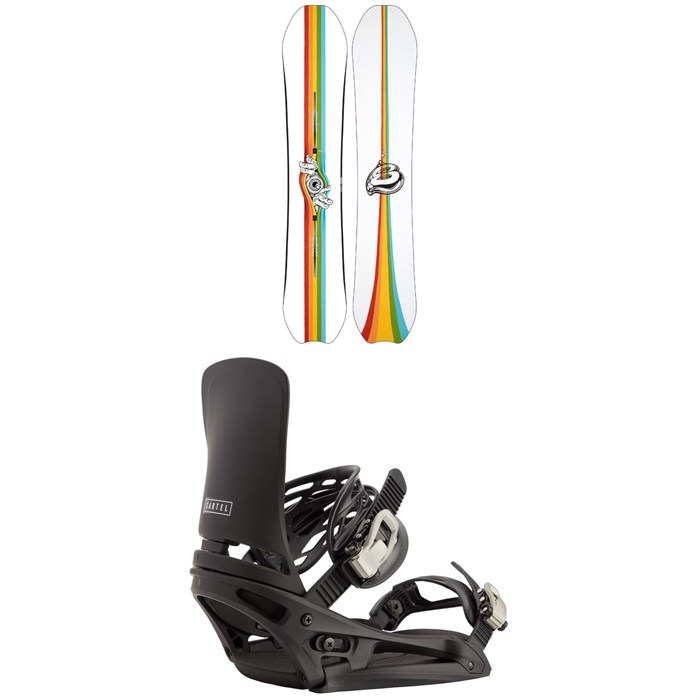 Burton - Deep Thinker Snowboard + Cartel EST Snowboard Bindings 2021